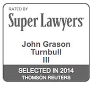 Super Lawyers Logo for John Turnbull